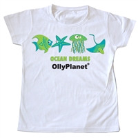 Ocean dreams shirt in green for toddlers