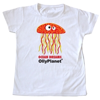 Adorable red jelly fish toddler tee available on OllyPlanet.com