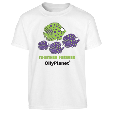 School of fish together forever tee for kids. Buy it now are OllyPlanet.com!