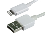 WholesaleCables.com WC-0012-71803 3ft white Apple MFi Certified Lightning to USB Charge & Sync Cable