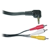 10A1-04103 3ft Camcorder Cable 3.5mm Male to RCA A/V