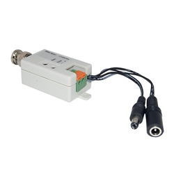 WholesaleCables.com 10B1-01220 Active Video Balun Male BNC Connector to Bare Wire Terminals - Camera Side