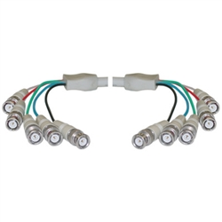 10B1-07106 BNC x 5 Male to BNC x 5 Male Cable Double-Shielded