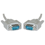WholesaleCables.com 10D1-03110 10ft Serial Cable DB9 Male UL rated 9 Conductor 1:1