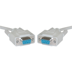 WholesaleCables.com 10D1-03415 15ft DB9 Female Serial Cable, DB9 Female, UL rated, 9 Conductor