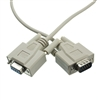 10D1-20203 3ft Null Modem Cable DB9 Male to DB9 Female UL rated 8 Conductor