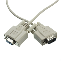 WholesaleCables.com 10D1-20203 3ft Null Modem Cable DB9 Male to DB9 Female UL rated 8 Conductor