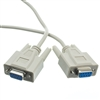 10D1-20410 10ft Null Modem Cable DB9 Female UL rated 8 Conductor