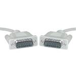WholesaleCables.com 10D2-01106 6ft Apple/Mac Monitor Cable DB15 Male 15 Conductor