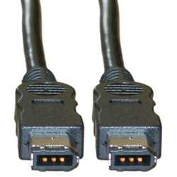 WholesaleCables.com 10E3-01110 10ft Firewire 400 6 Pin cable IEEE-1394a