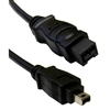 WholesaleCables.com 10E3-94015BK 15ft Firewire 400 9 Pin to 4 Pin cable Black IEEE-1394a