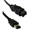 WholesaleCables.com 10E3-96006BK 6ft Firewire 400 9 Pin to 6 Pin Cable Black IEEE-1394a