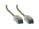 WholesaleCables.com 10E3-99015 15ft Firewire 800 9 Pin cable Clear IEEE-1394b