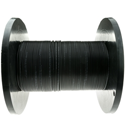 10F3-202NH 1000ft 2 Fiber Indoor/Outdoor Fiber Optic Cable Multimode 62.5/125 Black Riser Rated Spool