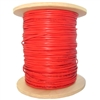 WholesaleCables.com 10F5-0271NH 1000ft 18/2 (18AWG 2C) Solid FPLR Fire Alarm / Security Cable Red Spool
