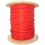 WholesaleCables.com 10F5-0471NH 1000ft Fire Alarm / Security Cable Red 18/4 (18 AWG 4 Conductor) Solid FPLR Spool