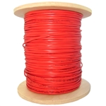 WholesaleCables.com 10F6-0471NH 1000ft Fire Alarm / Security Cable Red 16/4 (16 AWG 4 Conductor) Solid FPLR Spool