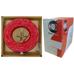 WholesaleCables.com 10F6-5271TH 1000ft Shielded Fire Alarm / Security Cable Red 16/2 (16 AWG 2 Conductor) Solid FPLR Pullbox