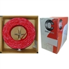 10F7-0271TH 1000ft Fire Alarm / Security Cable Red 14/2 (14 AWG 2 Conductor) Solid FPLR Pullbox