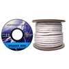 10G3-491250 250ft Speaker Cable White Pure Copper CM / Inwall rated 14/4 (14 AWG 4 Conductor) 105 Strand / 0.16mm Spool