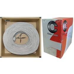 10K7-0221SH 1000ft Security/Alarm Wire Gray 14/2 (14AWG 2 Conductor) Stranded CM / Inwall rated Pullbox