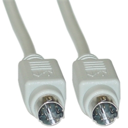 WholesaleCables.com 10M3-04110 10ft Apple Serial cable MiniDin8 Male 8 Conductor