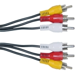 10R1-03125 25ft RCA Audio / Video Cable 3 RCA Male