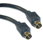 10S2-01125G 25ft S-Video Cable MiniDin4 Male Gold-plated connector