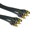 10S3-33101 1ft Premium Grade S-Video and RCA Stereo Audio Cable MiniDin4 Male and 2 RCA Male