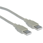 WholesaleCables.com 10U2-02103 3ft USB 2.0 Type A Male to Type A Male Cable