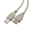 WholesaleCables.com 10U2-02115E 15ft USB 2.0 Extension Cable Type A Male to Type A Female