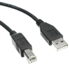 WholesaleCables.com 10U2-02201BK 1ft USB 2.0 Printer/Device Cable Black Type A Male to Type B Male
