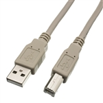 WholesaleCables.com 10U2-02203 3ft USB 2.0 Printer/Device Cable Type A Male to Type B Male