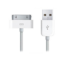 WholesaleCables.com 10U2-04106WH 6ft Apple Authorized White iPhone iPad iPod USB Charge and Sync Cable