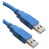 WholesaleCables.com 10U3-02110 10ft USB 3.0 Cable Blue Type A Male / Type A Male