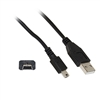 WholesaleCables.com 10UM-02101BK 1ft Mini USB 2.0 Cable Black Type A Male to 5 Pin Mini-B Male