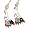 WholesaleCables.com 10V2-13106 6ft RCA Component Video With Audio Cable 3 RCA Male (RGB) and 2 RCA Male (Audio)