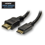 WholesaleCables.com 10V3-43103 3ft Mini HDMI Cable High Speed with Ethernet HDMI Male to Mini HDMI Male (Type C)