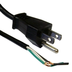 WholesaleCables.com 10W1-10106 6ft NEMA 5-15P to Standard ROJ Power Cord Black 18/3 (18AWG 3 Conductor) SVT 10 Amp / 125 Volt
