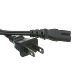 WholesaleCables.com 10W1-13203 3FT Laptop Power Cord NEMA 1-15P to C7 Non-Polarized