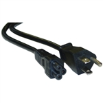 WholesaleCables.com 10W1-15201 1ft Notebook/Laptop Power Cord NEMA 5-15P to C5 3 Pin UL/CSA rated