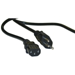 10W1-17206 6ft Swiss 3 Prong Computer/Monitor Power Cord Black SE 1011 to C13 VDE Approved