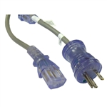 WholesaleCables.com 10W2-51510 10ft Hospital Grade Green Dot Power Cord 14 AWG SJT 15 Amp / 125 Volt