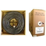 WholesaleCables.com 10X3-022TH-20 1000ft Bulk RG59/U Coaxial Cable Black 20 AWG Solid Core Pullbox