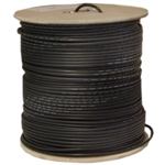 10X4-122NH 1000ft Quad Shielded Bulk RG6 Coaxial Cable Black 18 AWG Solid Core Spool