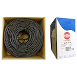 WholesaleCables.com 10X4-322TH 1000ft Bulk RG6U Coaxial Cable Black 18 AWG Solid Copper Core Copper Braid with 95% coverage 3 GHz Pullbox