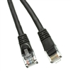 WholesaleCables.com 10X6-02201 1ft Cat5e Black Ethernet Patch Cable Snagless/Molded Boot