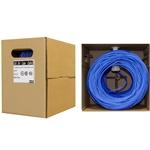 WholesaleCables.com 10X6-061TF 500ft Bulk Cat5e Blue Ethernet Cable Solid UTP Unshielded Twisted Pair Pullbox