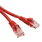 WholesaleCables.com 10X6-07101 1ft Cat5e Red Ethernet Patch Cable Snagless/Molded Boot