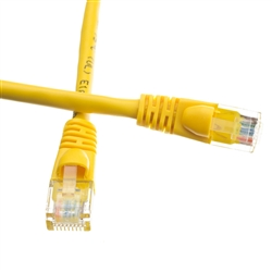 WholesaleCables.com 10X6-08101 1ft Cat5e Yellow Ethernet Patch Cable Snagless/Molded Boot